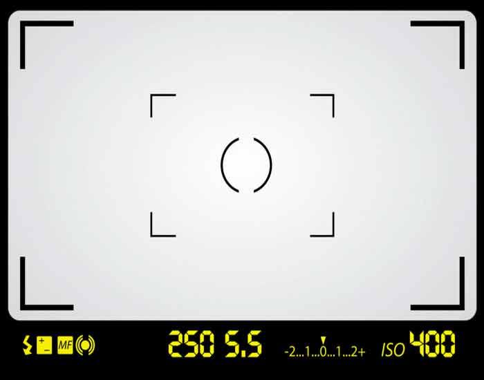 Оптический видоискатель (на цифровой зеркальной фотокамере)