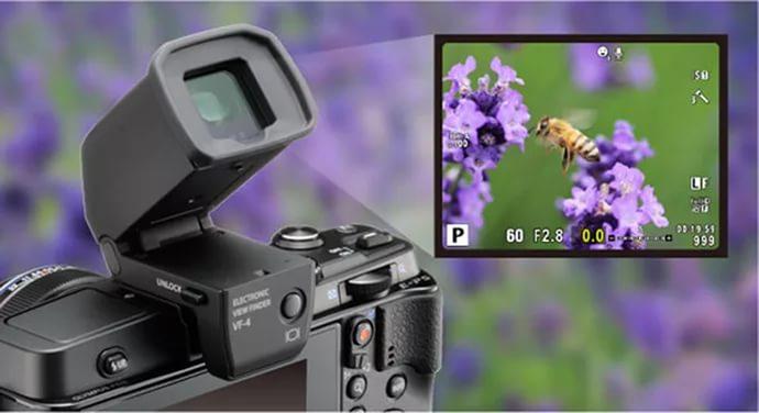 Электронный видоискатель (на цифровой компактной камере)
