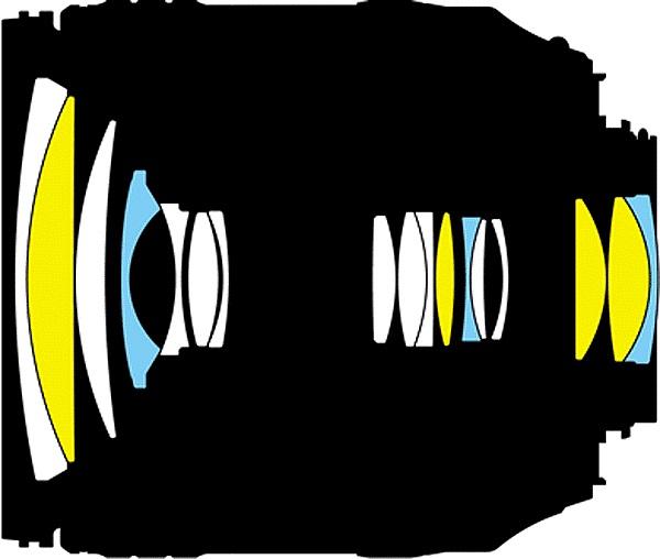 Оптическая схема Nikon 16-80mm F / 2.8-4E VR