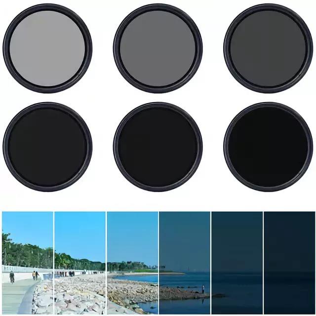 Нейтрально серый (ND) фильтр с регулируемой плотностью.