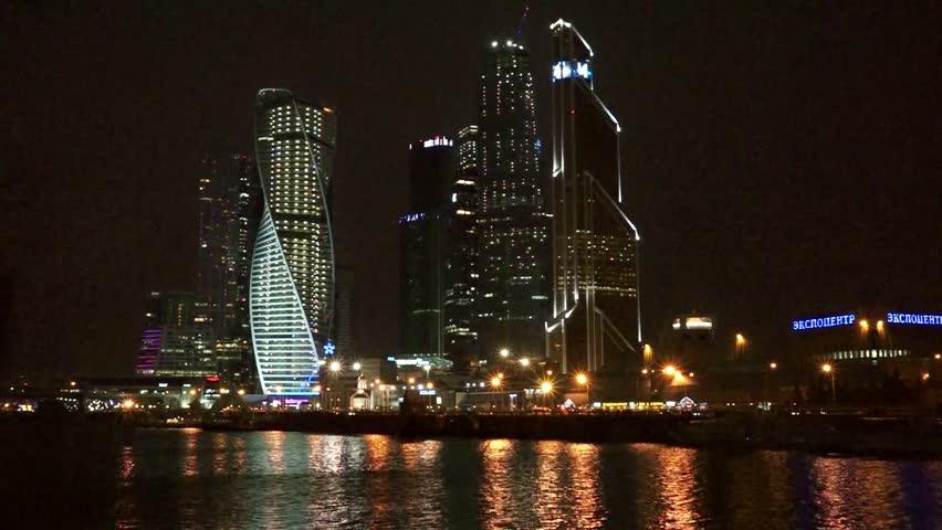 Съемка ночного города
