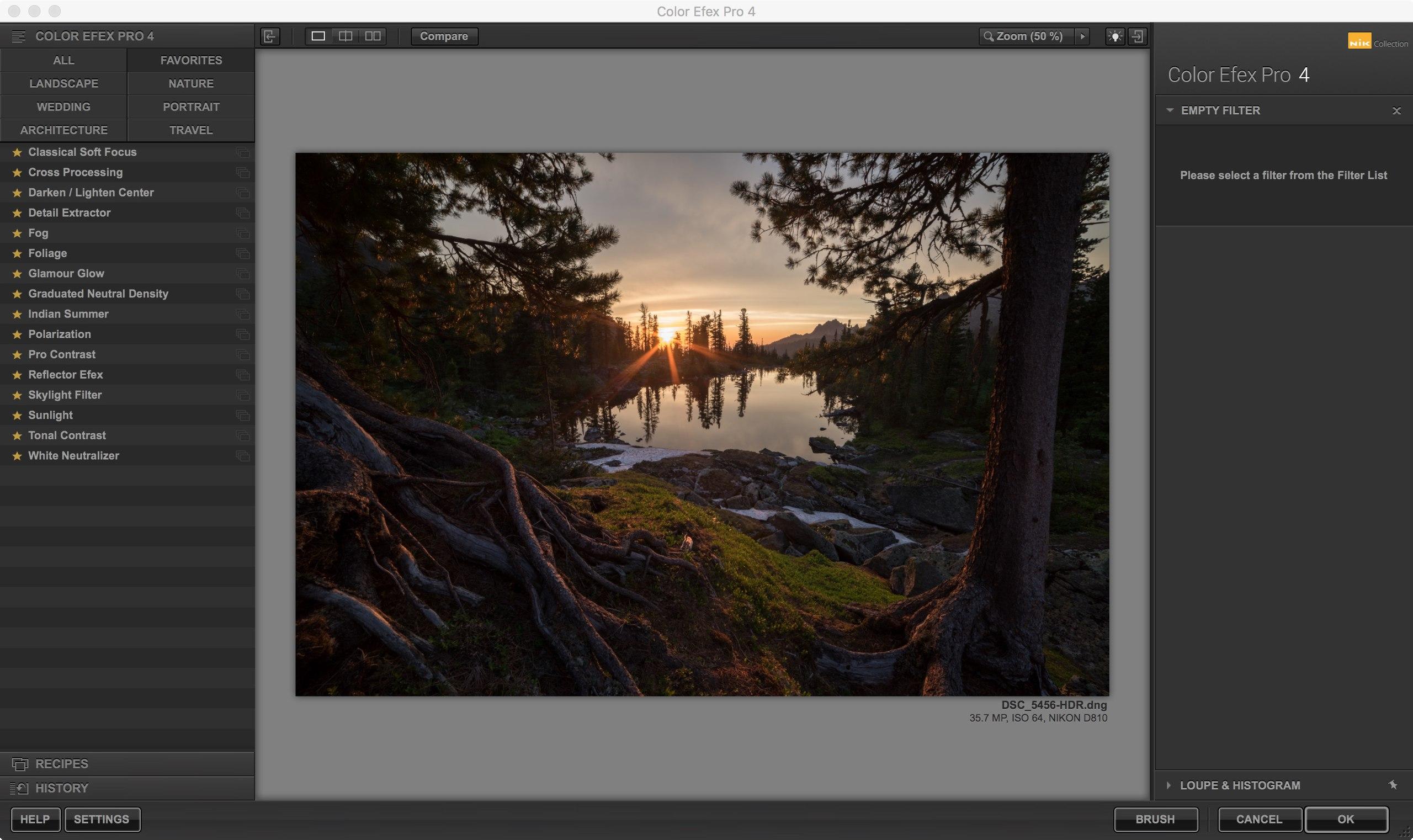 Обработка фотографии заката в colorflex pro photoshop