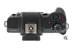 Говоря о верхней части камеры Canon EOS M50