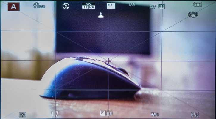 При настройке соотношения сторон кадра 16:9 электронный видоискатель Panasonic GX9 имеет более привлекательное и удобное соотношение сторон