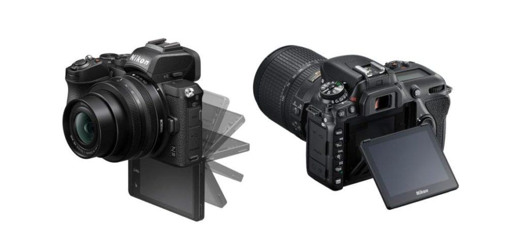 Задний экран фотоаппраратов Nikon Z50 и Nikon D7500
