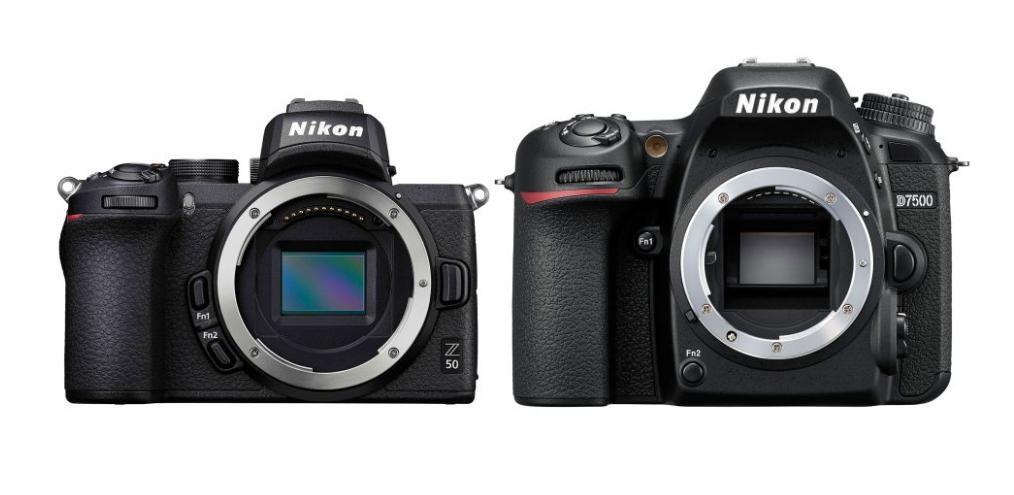 матрицы фотоаппраратов Nikon Z50 и Nikon D7500