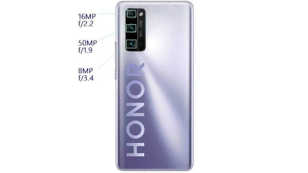 Камера Honor 30 Pro Plus состоит из 3 модулей