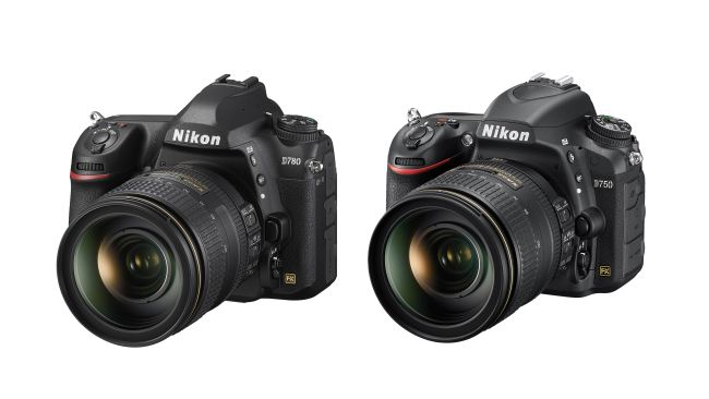 Nikon D780 против Nikon D750: вид спереди
