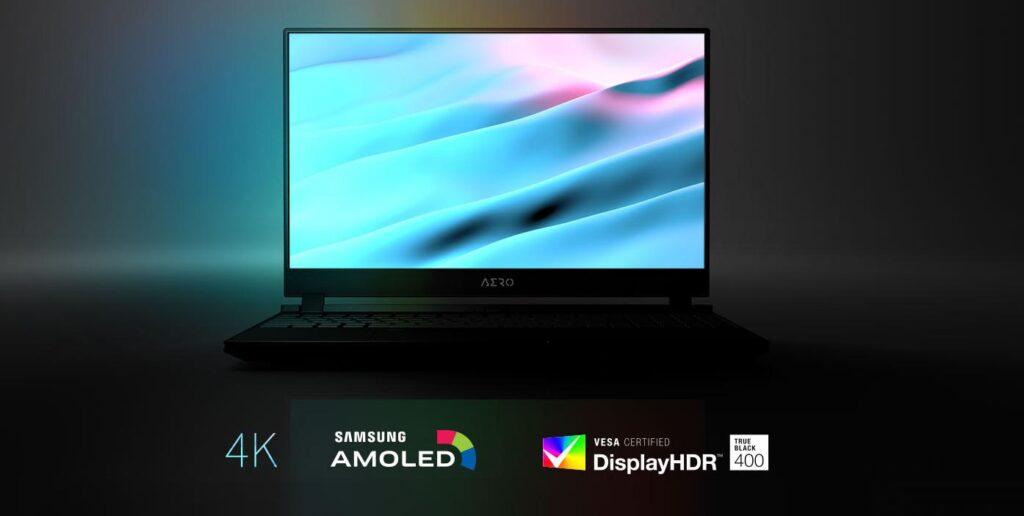 Экран Samsung 4K AMOLED является одной из основных изюминок Gigabyte Aero 15 OLED.