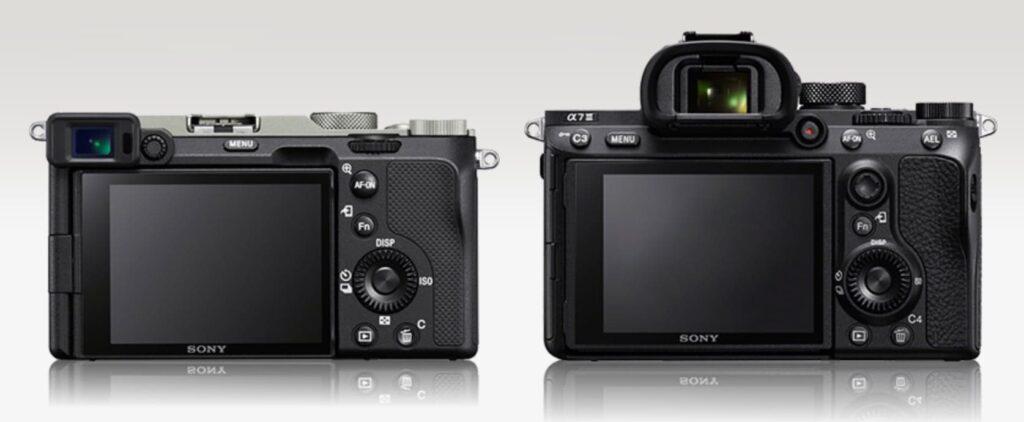 Что отличается Sony a7C и a7 III – это видоискатель